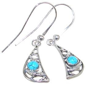 Unique Turquoise Sterling Silver Earrings