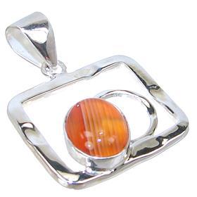 Botswana Agate Sterling Silver Pendant