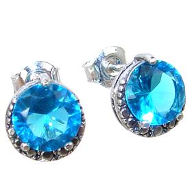 Blue Quartz Sterling Silver Earrings