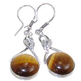 Tiger Eye Sterling Silver Gemstone Earrings
