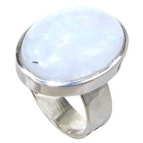 Moonstone Sterling Silver Ring size Q 1/2
