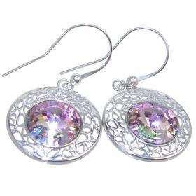 Crystal Sterling Silver Earrings