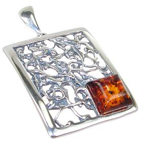 Baltic Amber Sterling Silver Pendant