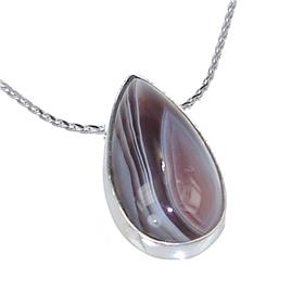 Agate Sterling Silver Necklace 19 inches long