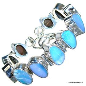 Fire Opal Sterling Silver Bracelet Jewellery.Silver Gemstone Bracelet