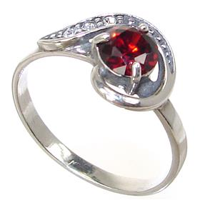 Red Quartz Sterling Silver Ring Size Q