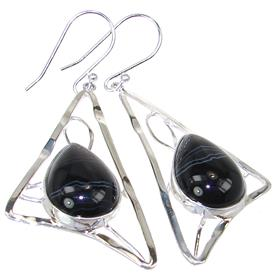 Designer Agate Sterling Silver Earrings