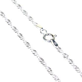 Twisted Roc Sterling Silver Chain 19 Inches
