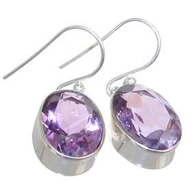 Purple Quartz Sterling Silver Earrings
