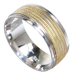 Modern Plain Sterling Silver Ring size L 1/2