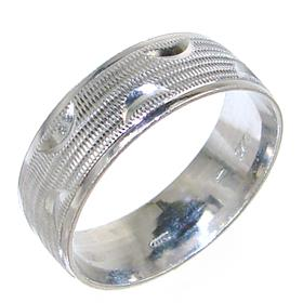 Modern Plain Sterling Silver Ring size S 1/2