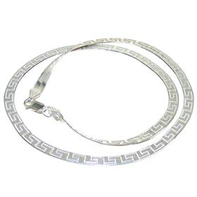 Elegant Sterling Silver Necklace length 17 inches