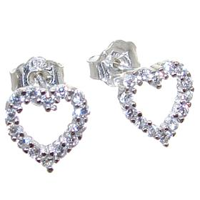 White Quartz Sterling Silver Earrings Stud