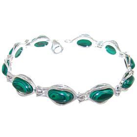 Malachite Sterling Silver Bracelet