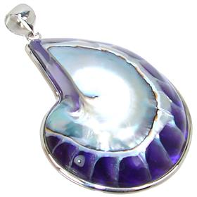 Fancy Shell Sterling Silver Pendant