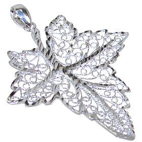 Fancy Leaf Sterling Silver Pendant