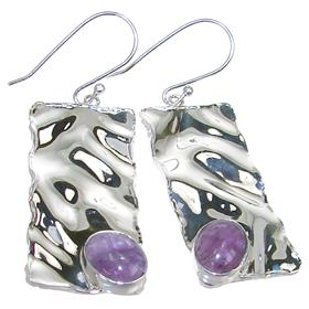 Fancy Amethyst Sterling Silver Earrings