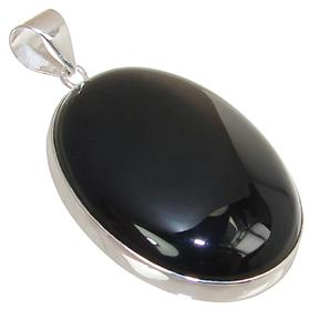 Gorgeous Black Onyx Sterling Silver Pendant
