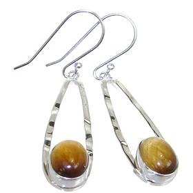 Tiger Eye Sterling Silver Gemstone Earrings