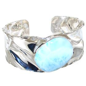 Larimar Sterling Silver Bracelet Bangle