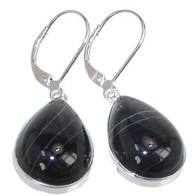 Botswana Agate Sterling Silver Earrings