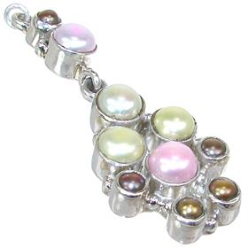Fancy Pearl Sterling Silver Pendant