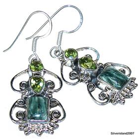 Seraphinite Sterling Silver Gemstone Earrings