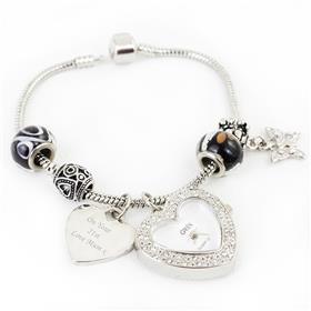 Personalised Galaxy Watch Charm Bracelet 18cm