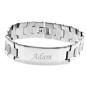 Personalised Stainless Steel Mens ID Bracelet