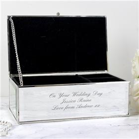 Personalised Any Message Mirrored Jewellery Box