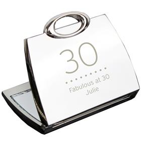 Personalised Birthday Any Age Handbag Compact Mirror