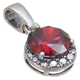 Red Quartz Sterling Silver Pendant