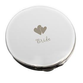 Bride Round Compact Mirror