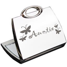 Auntie Handbag Compact Mirror
