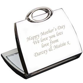 Personalised Any Text Handbag Compact Mirror