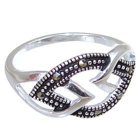 Modern Plain Sterling Silver Ring size N