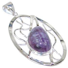 Designer Flourite Sterling Silver Pendant