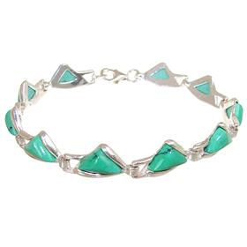 Fancy Turquoise Sterling Silver Bracelet