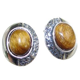 Tiger Eye Sterling Silver Earrings