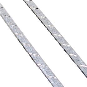 Sterling Silver Flat Chain 18 inches long