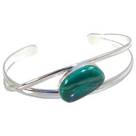 Malachite Sterling Silver Bracelet Bangle