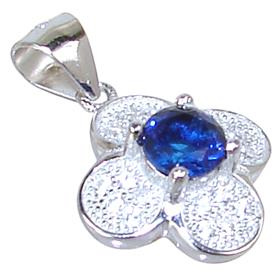 Blue Quartz Sterling Silver Pendant