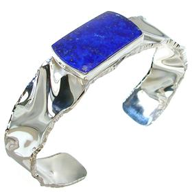 Lapis Lazuli Sterling Silver Bracelet Bangle