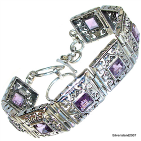 Stunning Multigem Sterling Silver Bracelet