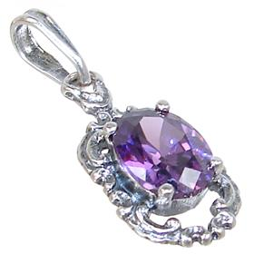 Purple Quartz Sterling Silver Pendant