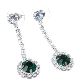 Green Quartz Fashion Earrings Stud