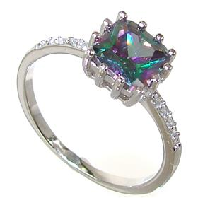 Mystic Quartz Sterling Silver Ring size Q