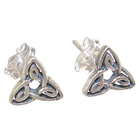 Celtic Sterling Silver Earrings Stud