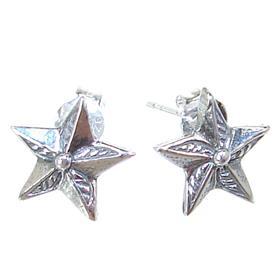 Star Sterling Silver Earrings Stud