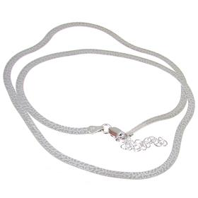 Elegant Sterling Silver Necklace length 18 - 20 inches